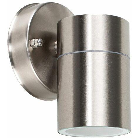 MiniSun - Barrow GU10 IP44 Rated Stainless Steel Outdoor Down Wall Light - No bulb