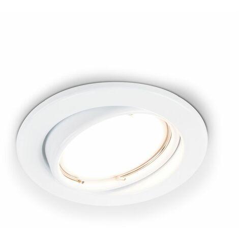 GU10 Downlights Recessed Tiltable Ceiling Spotlight - White - White