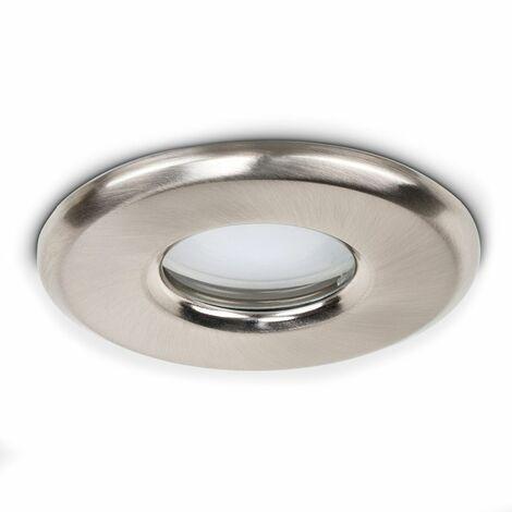 IP65 Bathroom Ceiling Downlight - Brushed Chrome
