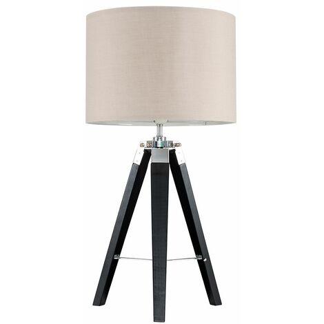 MiniSun Tripod Clipper Table Lamp - Beige - Black