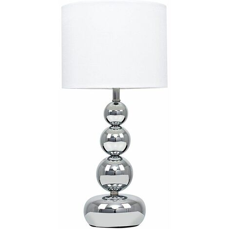 MiniSun - Modern Touch Dimmer Table Lamp Stacked Ball - White