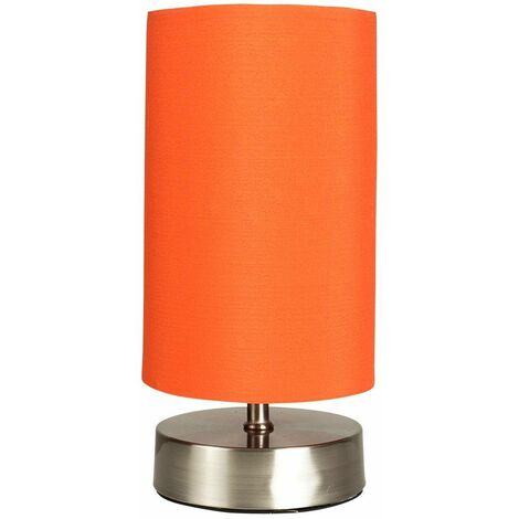 Touch Dimmer Bedside Table Lamp - Orange
