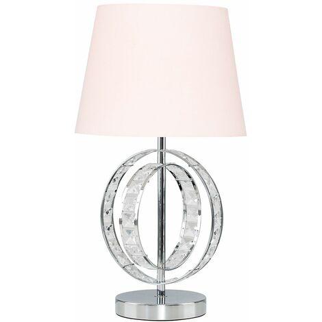 MiniSun - Acrylic Jewel Double Hoop Touch Table Lamp - Pink