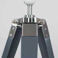 MiniSun - Grey Tripod Table Lamp - Grey