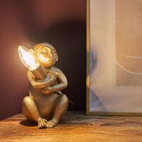 MiniSun - Baby Monkey Table Lamp Light Animal Vintage - Gold