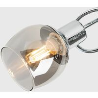 MiniSun - Modern LED Ceiling Light 3 Way Swirl Chrome Finish Lounge Lighting - No Bulb