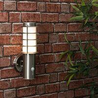 LED Outdoor Decorative Pir Sensor Stainless Steel Wall Light Lantern