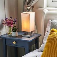 MiniSun - Square Chrome Touch Table Lamps - Pink