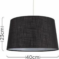 MiniSun - Faux Linen Shades Ceiling Pendant Lamp Shades - Black