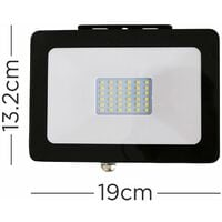 IP65 Rated 30W LED Slimline Outdoor Security Floodlight - Single