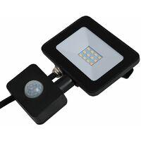 MiniSun - IP65 LED Outdoor Security Floodlight With PIR Motion Sensor - Neutral White - 10W