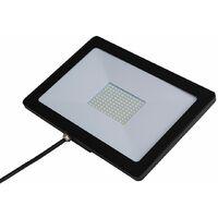 Black Slimline IP65 80W LED Flood Light - Single
