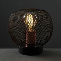 MiniSun - Wire Mesh Table Lamp - Black & Copper