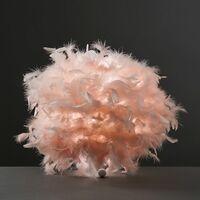 MiniSun - Uriel Feather Table Lamp + LED Bulb - Pink