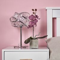 Hudson Intertwined Table Lamp In Chrome & Clear - No Bulb