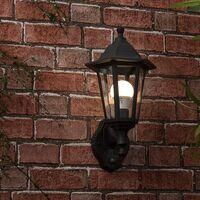 IP44 Outdoor Wall Lantern With Dusk Till Dawn Sensor - Black