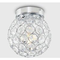 MiniSun - 3 Way Bathroom Ceiling Light Fitting with Acrylic Jewels - No Bulbs