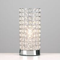 Crystal Touch Table Lamps 2 x Bedside Lamps - No Bulbs
