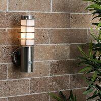 MiniSun - Outdoor Decorative Pir Sensor Stainless Steel Wall Light Lantern