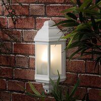 IP44 Kayleigh Outdoor Wall Light PIR - White