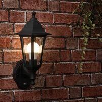 MiniSun - 2 x Black Outdoor Security Pir Motion Sensor IP44 Wall Light Lanterns