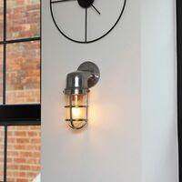 MiniSun - Stylish IP44 Rated Aluminium Metal Outdoor Wall Fisherman Light Lantern + 4W LED Filament Bulb - No Bulb