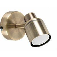 MiniSun - Adjustable Wall Spotlight + GU10 LED Bulb - Brass