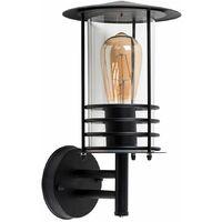 MiniSun - IP44 Rated Stainless Steel Metal Fisherman'S Lantern Cage Outdoor Wall Light - Black