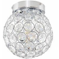 MiniSun - Round Chrome & Clear Acrylic IP44 Bathroom Ceiling Light + 3W G9 LED Bulb