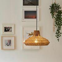 Rattan Wicker Ceiling Light Shade Pendant - Natural