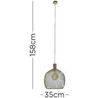 Stylish Mesh Gold Effect Ceiling Pendant Pendant - No Bulb