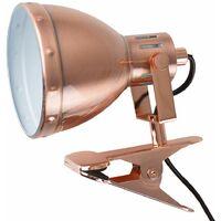 MiniSun - Metal Domed Adjustable Clip On Spotlight - Matt Copper