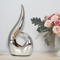 MiniSun - Ceramic Sculpture Ornament Table Lamp - Silver