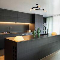 MiniSun - Industrial 4 Way Matt Black Angular Ceiling Light