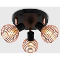 Industrial Ceiling Lights Copper Lighting - No Bulbs