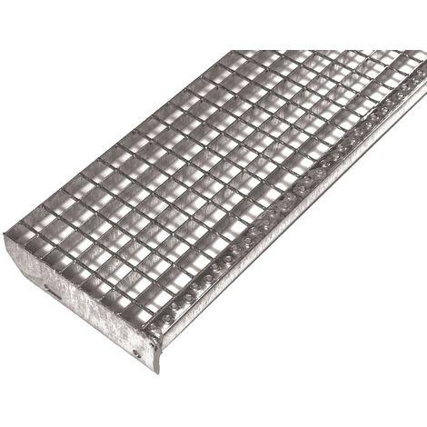 marche d'escalier en caillebotis électroforgés galvanisé 800x270mm maille 30/30