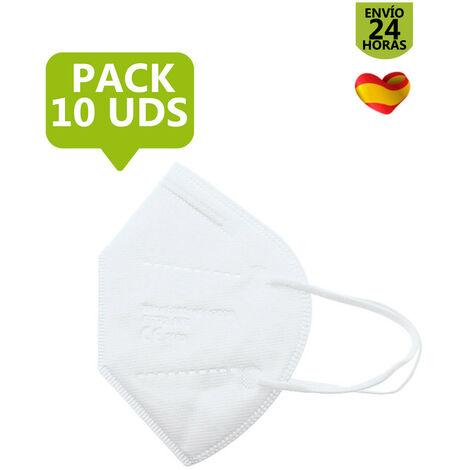 Pack de Mascarillas FFP2 Blancas de Adulto   10 Unidades