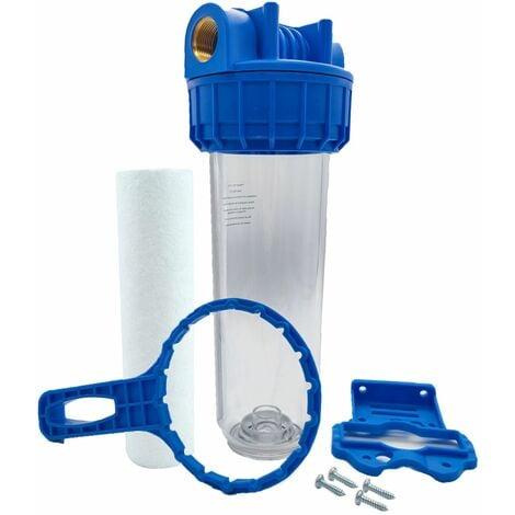 """Porte filtre à eau 9""""3/4 - 26/34F + filtre sédiment 20µm"""
