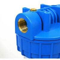 Porte filtre à eau 2 en 1 charbon actif + sediments 10µm Filtre 93/4 Insert 26/34 (1)F Filtre anti-odeur Filtre Anti-sédiment Fabrication Française