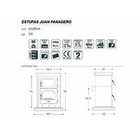 Pôele À Bois Mod Sabina 12,7 KW - Juan Panadero