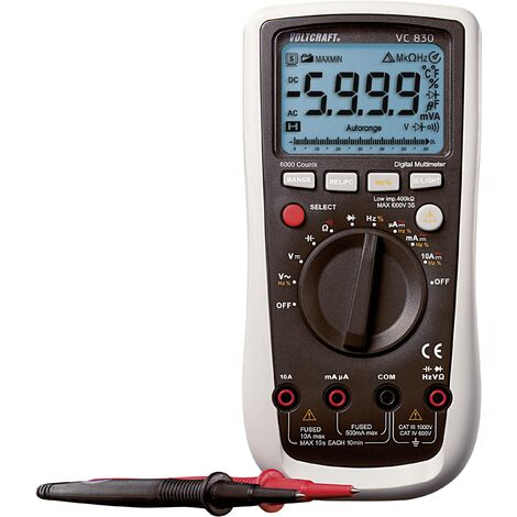 VOLTCRAFT VC830 Hand-Multimeter digital CAT III 1000 V, CAT IV 600V Anzeige (Counts): 6000 Q51879