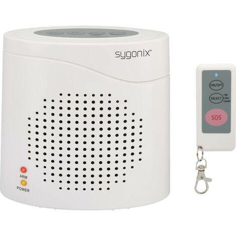 Sygonix Elektronischer Wachhund DD01 Weiß mit Fernbedienung 120 dB W027231