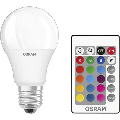 E27 LED Leuchtmittel dimmbare Glühlampe 9W mit Fernbedienung Smarthome Basic