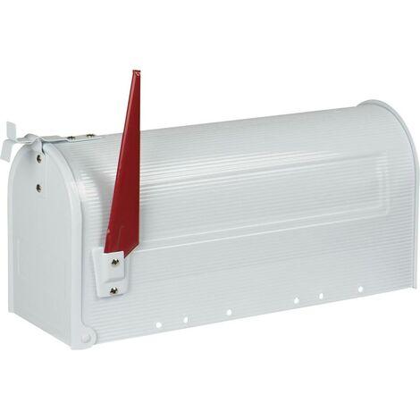 Burg Wächter 18620 US-BOX 891W Briefkasten Stahlblech Weiß X050471