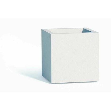 Vaso in Polimero Monacis Cube cm. 40X40X40 Bianco