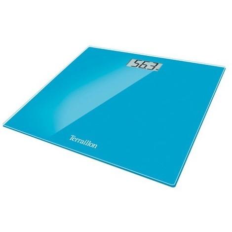 TERRAILLON - Pèse personne électronique TX1500BLEU - écran LCD - bleu