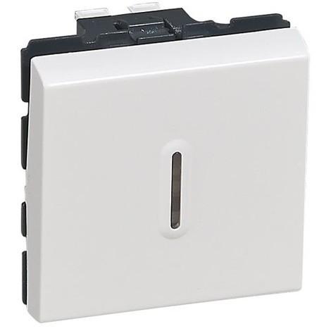 LEGRAND - Interrupteur vv Mosaïc + voyant lumineux 2 modules - blanc