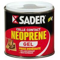 SADER - Colle contact néoprène multi-usages gel - transparent - 500 mL