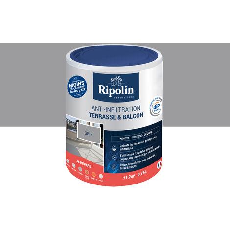 Revêtement Anti-Infiltration Terrasse & Balcon, Gris, 0,75L, Ripolin - Gris
