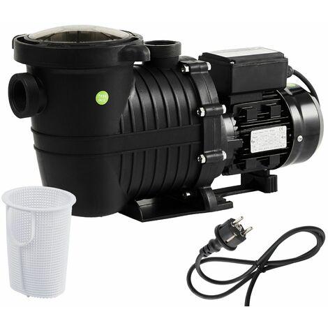 AREBOS Bomba Depuradora para Piscina Bomba de Agua 800W 15000l/h - negro / rojo